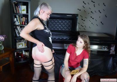 MySpankingRoommate - Episode 392: Apricot Spanks Roommate Over Decorations
