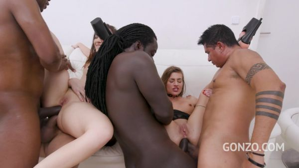 Silvia Dellai, Kristy Black - Silvia Dellai and Kristy Black fisting each other before hot DAP fucking with 5 guys SZ2621 [HD 720p] (LegalP0rno)