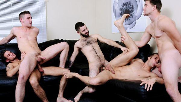 MN - Jizz Orgy - Power Bottoms - Connor Patricks, Cooper Reed, Duncan Black, Jimmy Johnson & Josh Long