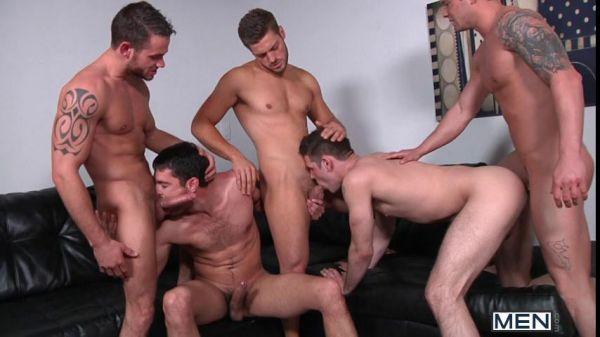 MN - Jizz Orgy - Brother Husbands - Haigen Sence, Andrew Blue, Donny Wright, Duncan Black, Cooper Reed