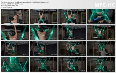 Sarah Brooke Suspended Mummification with Orgasm