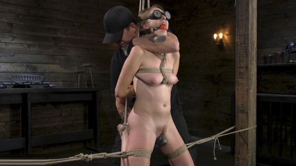 All Natural Cadence Lux Torment In Rope Bondage And Squirting Orgasms