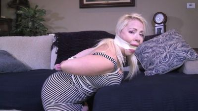 Curvy spy girl caught and tied up-OMG! I am in big trouble now!