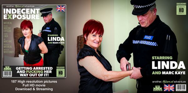 Mature Linda getting arrested for indecent exposure