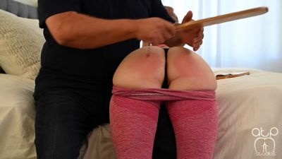 Daddy Paddles Bubble Butt Becky - Pants Down For The Paddle