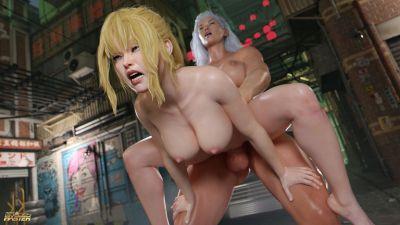 [GoldenMaster] Duel To The Holes [3D Porn Comic] futanari