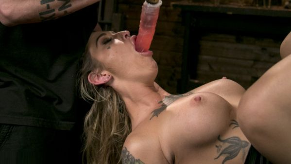 Blonde Submissive Bombshell Kleio Valentien Gets Punished And Pleasured In Strict Bondage