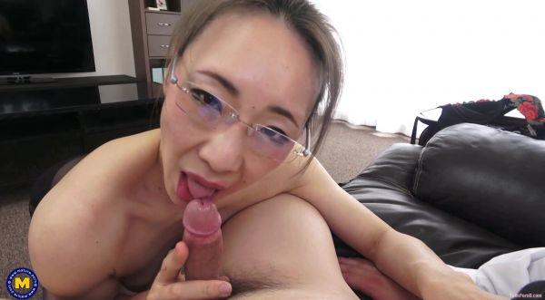 Miho Wakabayashi  - Mature - Creampieing my Japanese big nippled principal (25.06.2021) (HD 1060p) [2021]
