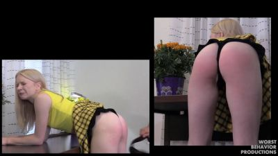 Clueless Blonde Spanked – 50 From The Belt 20 From The Prison Strap Pt2