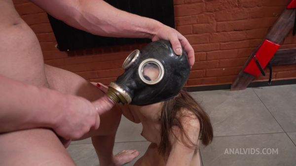 Vivian Grace - BDSM Humiliation Vivian Grace in Gas Mask! Anal destruction NRX129 [HD 720p] (LegalP0rno)