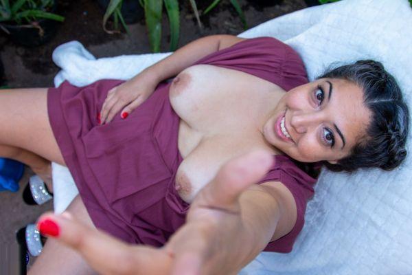 Kimberly Hennessy loves getting naked in her garden