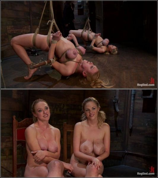 Darling, Katie Kox  - 2 amazing girls, 2 massive sets of bound boobage  (HD 720p) [2021]