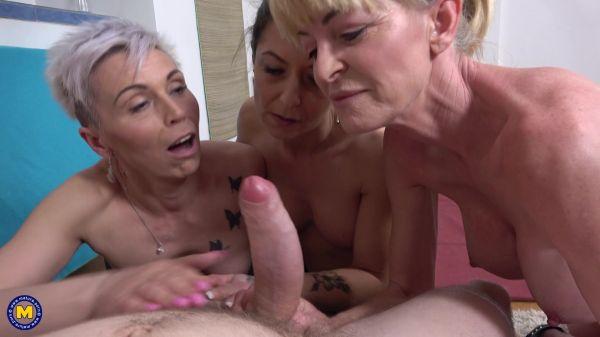 Jane Sweet, Kathy White, Nina Blond  - POV fitness fucking with three skinny mature nymphos (23.07.2021) [FullHD 1080p] (Mature)