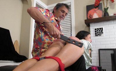 DallasSpanksHard – Hailey's Domestic 4 – Gelled Rubber Paddle
