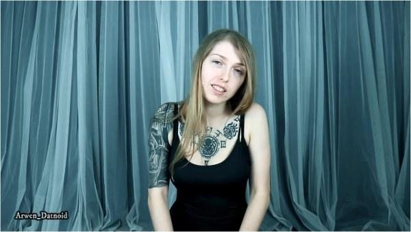 Arwen Datnoid - Butt Plug Anal Training JOI Cum Twice For Me - Anal Training