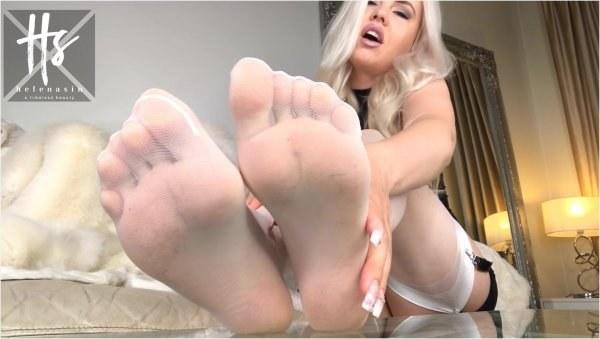 Helena Sin - White Nylons ASMR JOI - Shoe Fetish Pov