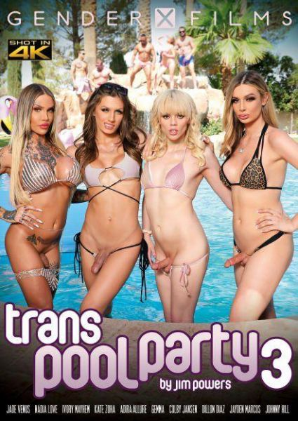 Adira Allure, Ivory Mayhem, Jade Venus, Kate Zoha, Nadia Love, Colby Jansen, Dillon Diaz, Jayden Marcos, Johnny Hill -  Trans Pool Party 3 (Trans/HD/2021)