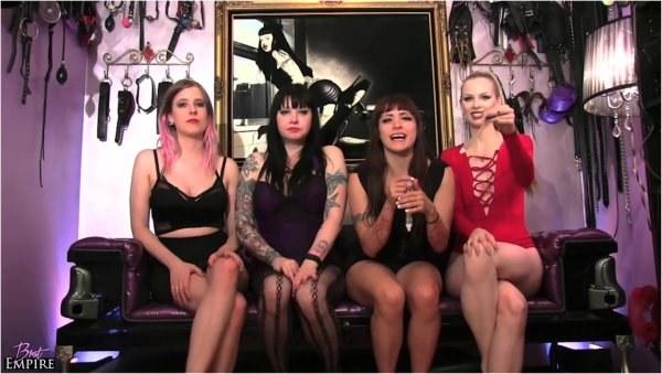 Maya Sinstress, Amara Noir, Goddess Sapphire, Kelly Sunshine - Eat Our Lovers Cum - Femdom Pov