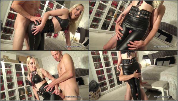 Cum Licking Leather Pants Fucker - Miss Liz - DirtyDommes