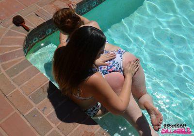 SpankedCallGirls - Carmen Spanked In Pool