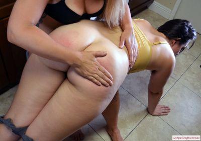 MySpankingRoommate - Episode 403: Madison Spanks Dria In Kitchen