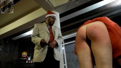 Latin Spanking Daniella And Profe Wish Very Hard Christmas Spanking