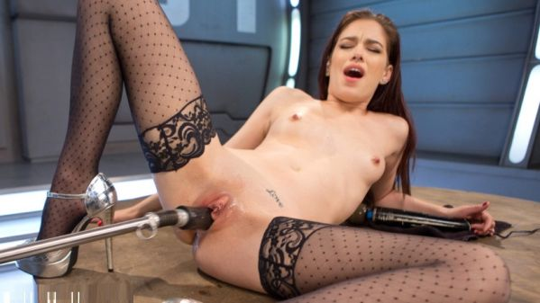 Brand New Girl Surrounded And Fucked By The Machines