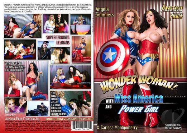 Wonder Woman With Miss America - Carissa Montgomerry