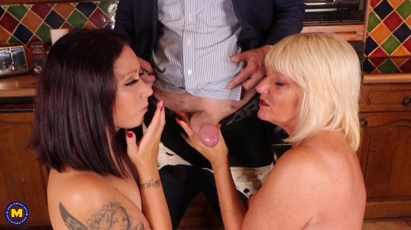 Mature - Two hot cougars jerking off a big dicked stranger (25.09.2021) with Amy, Belle O'Hara  (FullHD/1080p) [2021]