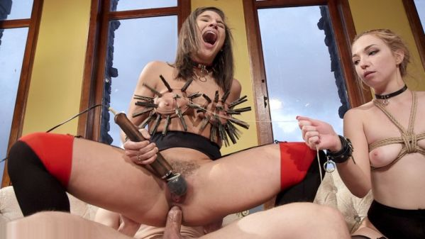 Abella's Anal Violation For New Meat's Mistakes