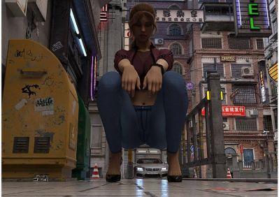 [Fabdelamole] Street Life [3D Porn Comic] giantess