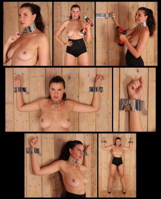 Metal Bondage – MB645 – Alisa tests the new Wall Cuffs