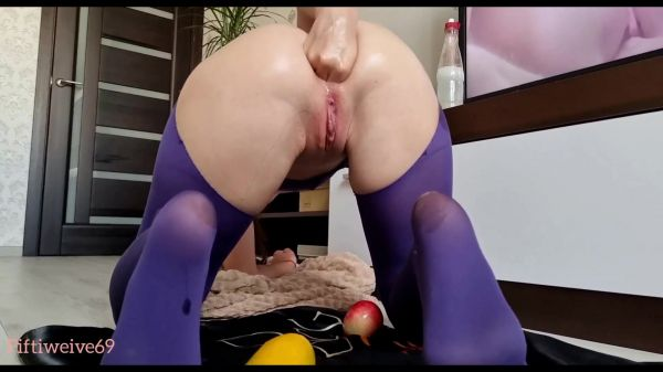Anal Fisting - Pervert fucks herself with juicy fruits  with Fiftiweive69  (FullHD/1080p) [2021]