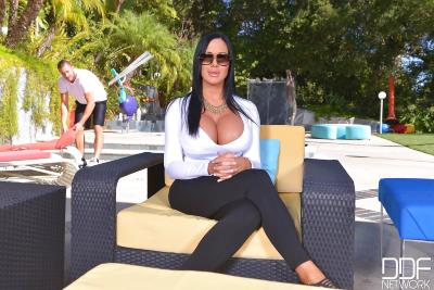 DDFBusty   Sybil Stallone   Busty Pool Encounter