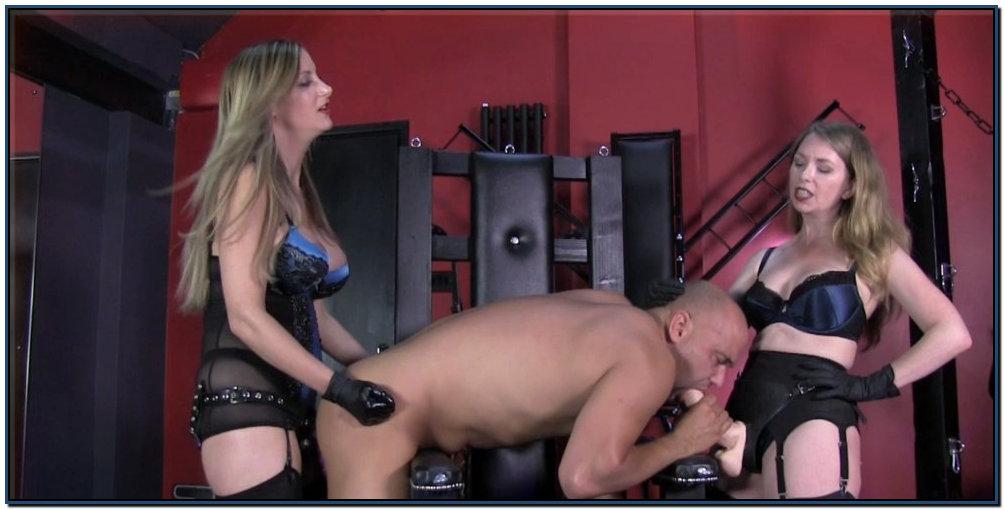 Double Strapon With Nikki Female Domination