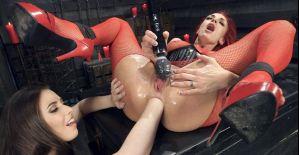 Casey Calvert , Celeste Summerz - Filthy, Hot, Red head MILF loves Anal from sexy young Casey Calvert
