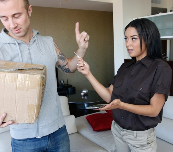 Maya Bijou - Maya Bijou's day job is handling your package (BrownBunnies.com/SD) 2016
