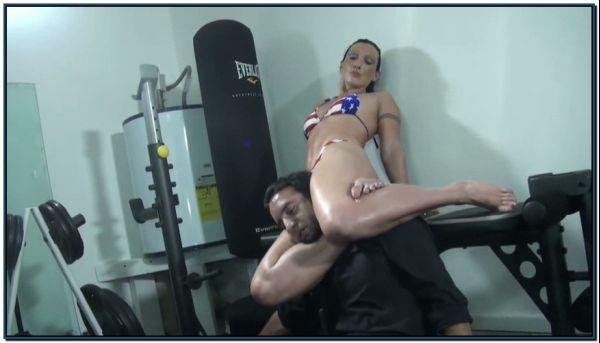 Wenonas Scissor Yoga Class Female Domination