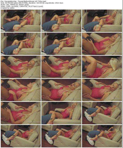 FemaleWorship - DessertBeforeDinner HD 720p Facesitting, Cunilingus, Femdom