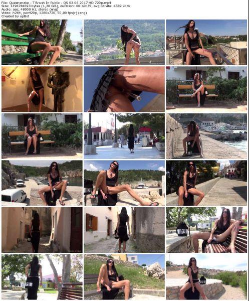 Queensnake - T Brush In Public - QS 03 06 2017 HD 720p Lezdom, Nettles, Nipples