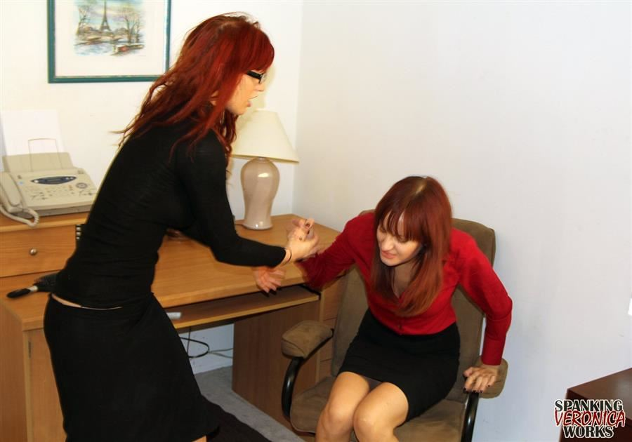 Veronica & Phoenix Office Spankings - image4