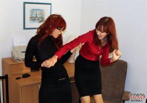 Veronica & Phoenix Office Spankings - image5