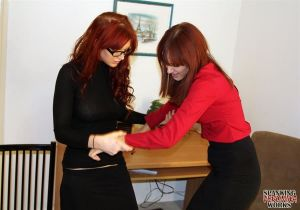 Veronica & Phoenix Office Spankings - image6