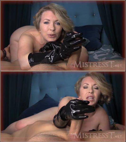 MistressT: Mistress T - FemDom Rubber Glove Wank (HD/2018)