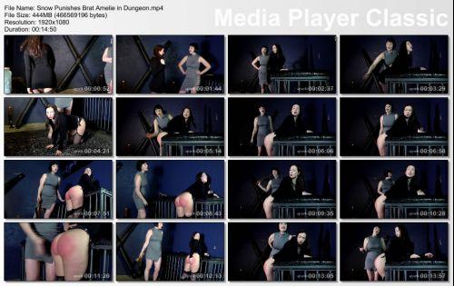 thumbs20180605235345 - spankedcallgirls – MP4/Full HD – Madam Snow Mercy - Snow Punishes Brat Amelie in Dungeon