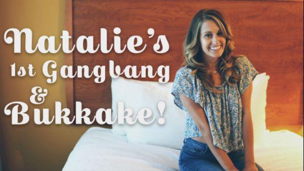TexxxasBukkake: Natalie Rae - Natalie's 1st Gangbang & Bukkake - 07.06.2018 (FullHD/2018)