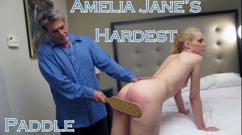 dallasspankshard – MP4/SD – Amelia Jane – Hardest – Nude Paddling 6