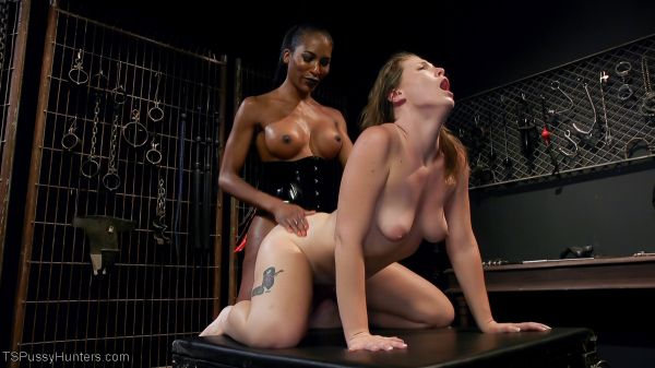 Natassia Dreams, Ella Nova - Natassia Dreams Slutty Leather Sex Kitten, Ella Nova [HD 720p] (TSPussyHunters)