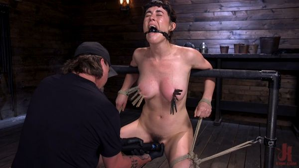 Olive Glass - Hot Bodied All Natural Rope Slut Submits to Torment and Orgasms