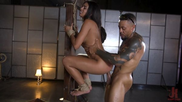 Petite Anal Whore Vienna Black Abused and Butt Fucked in Rope Bondage